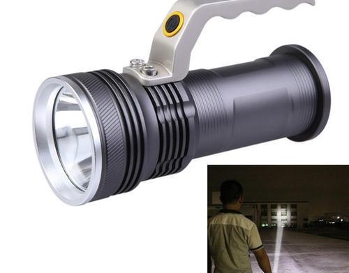 Supervýkonná dobíjacia LED baterka s rúčkou a funkciou ZOOM