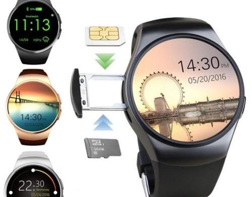 Vodeodolné, inteligentné dotykové hodinky s meraním tepu na SIM kartu...