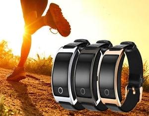 Luxusné unisex vodeodolné hodinky (náramok) s meraním tlaku, srdcového rytmu...